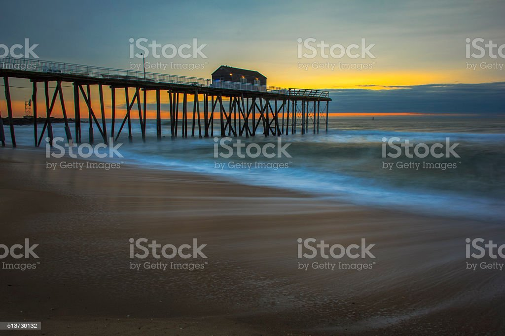 Fishing Pier in New Jersey stock photo