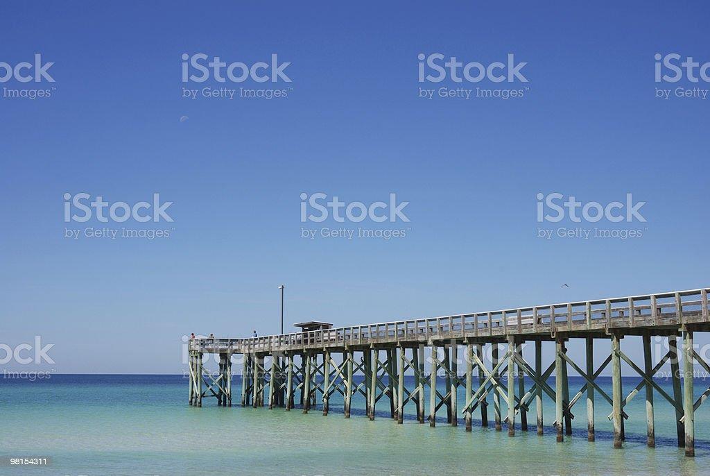 Fishing Pier Panama City Beach Florida royalty-free stock photo