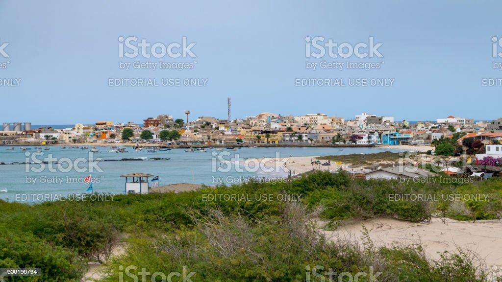 Fishing port capital of Boa Vista stock photo