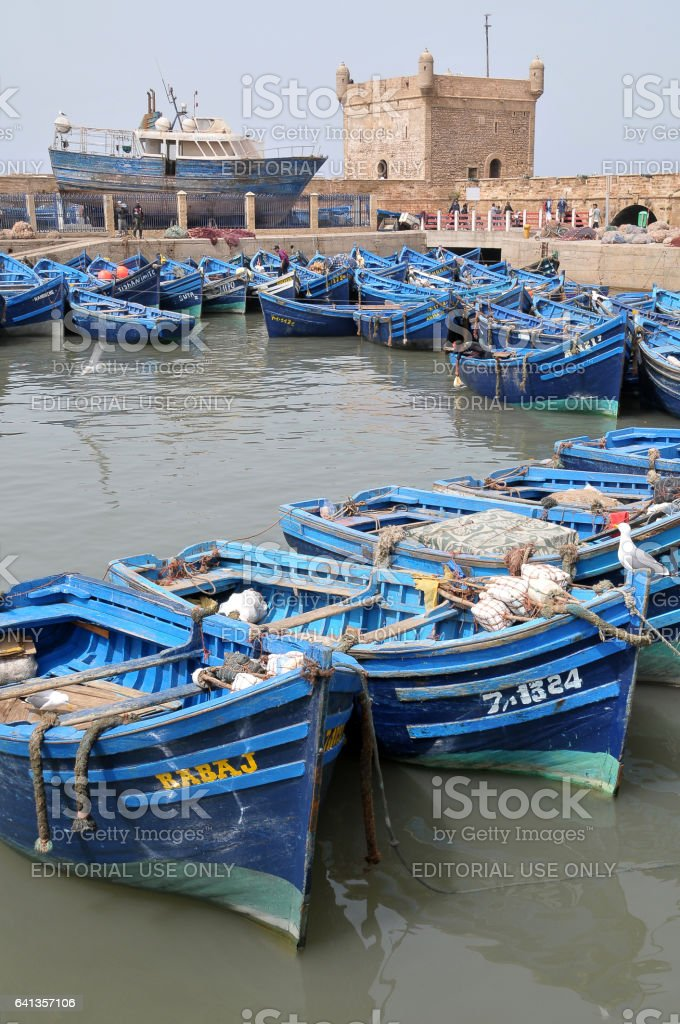 Puerto pesquero de Essaouira - foto de stock