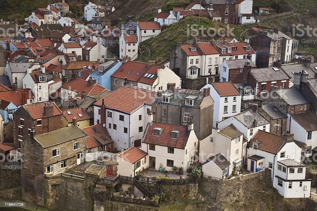 Fishing port of Staithes royalty-free stock photo