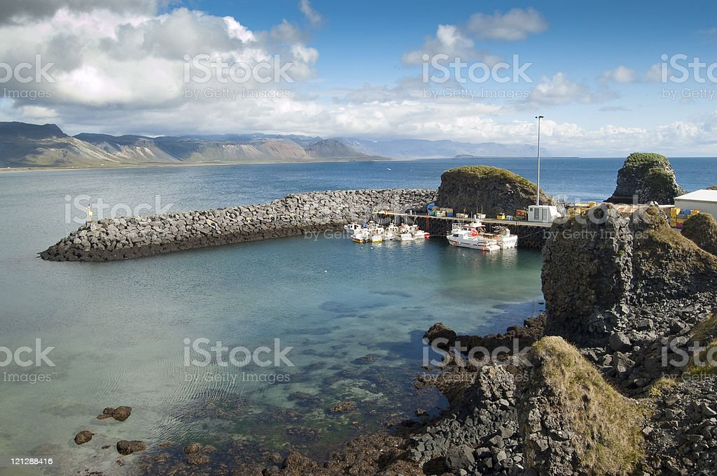 Fishing port royalty-free stock photo