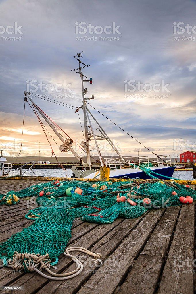 Fishing port stock photo