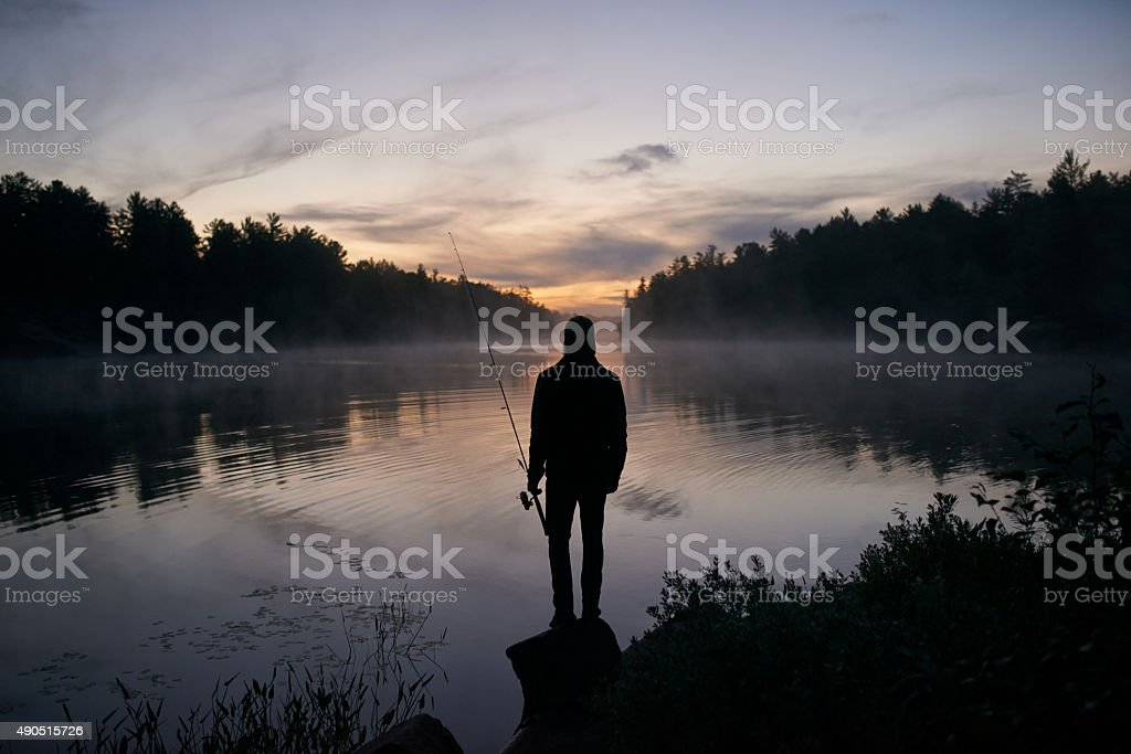 Fishing puts everything into perspective royalty-free stock photo