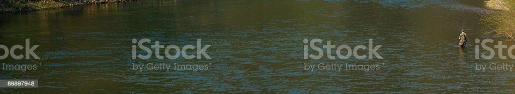 Fiume pesca tutto a posto foto stock royalty-free