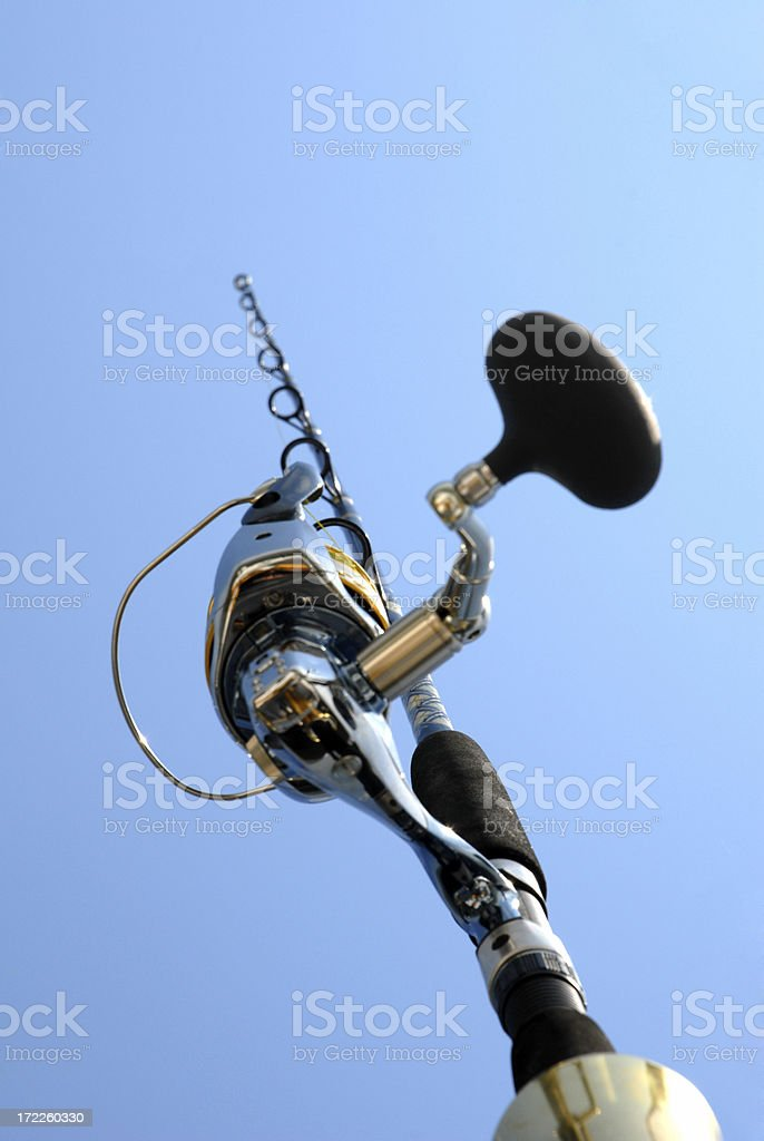 Fishing Rod and Reel stock photo