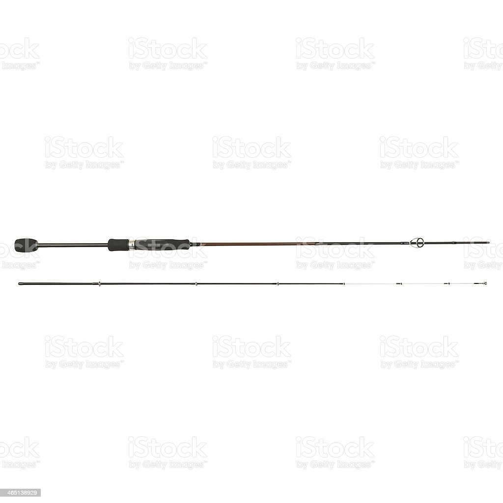 Fishing rod isolated stock photo