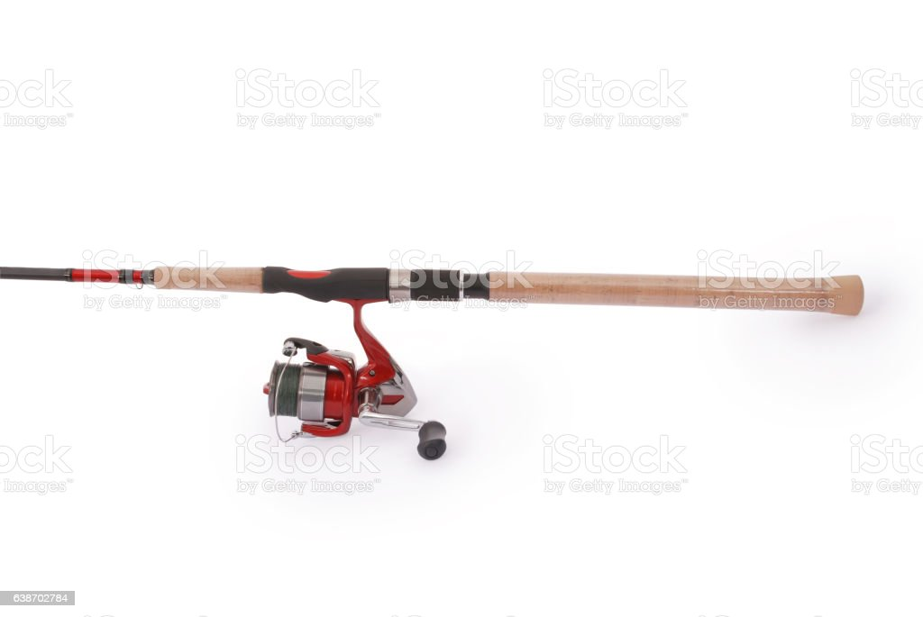 Fishing rod with a reel – Foto