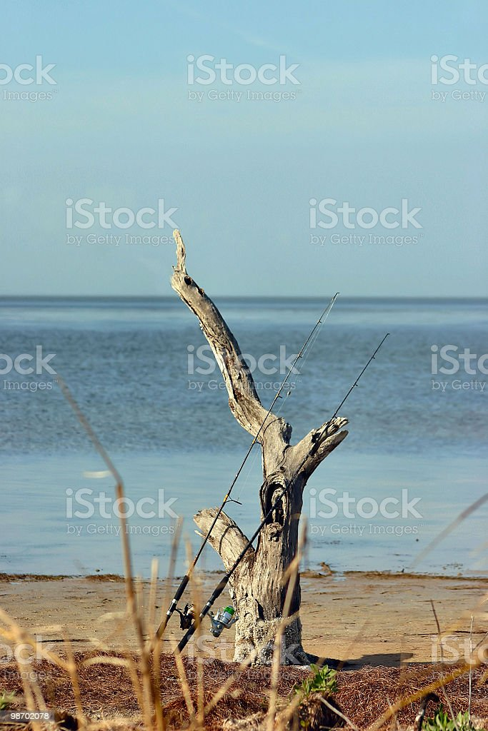 fishing rods royalty-free stock photo