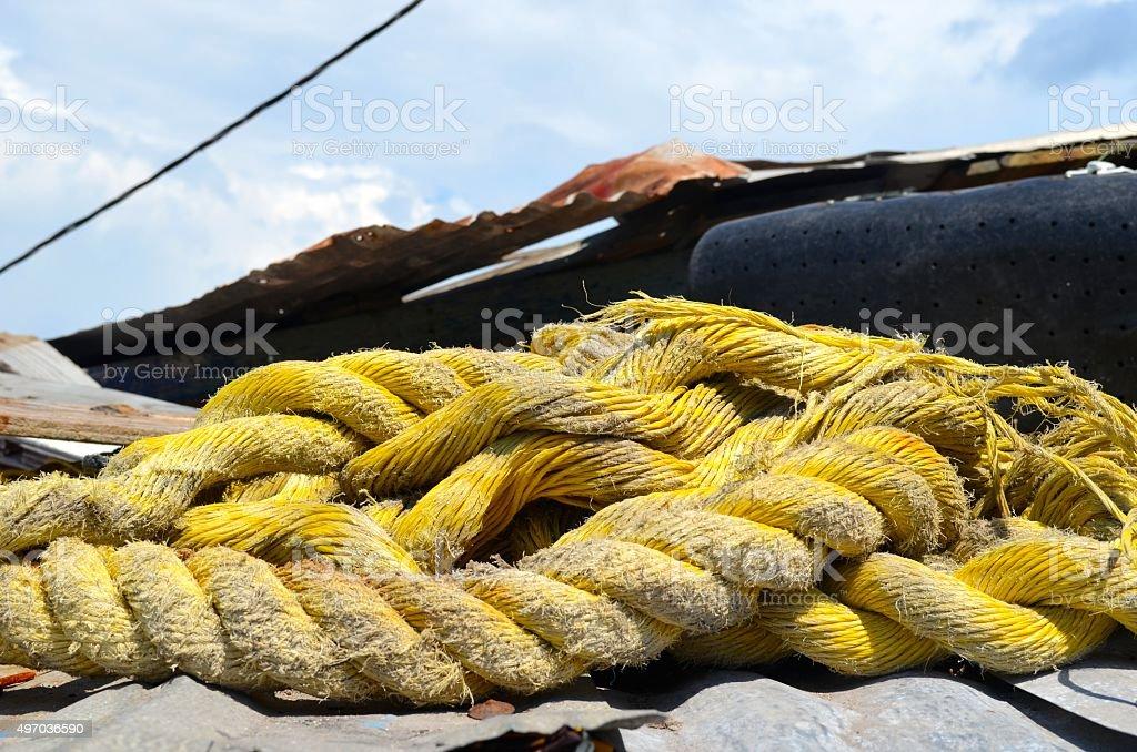 Fishing Rope stock photo