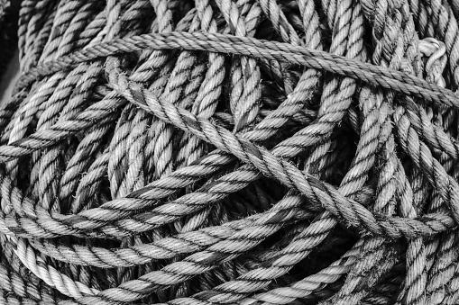 501889762 istock photo Fishing rope tangled 1173573281