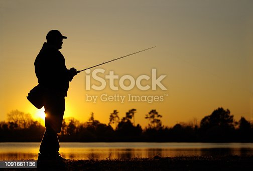 istock fishing scene, catch of fish, lure fishing 1091661136