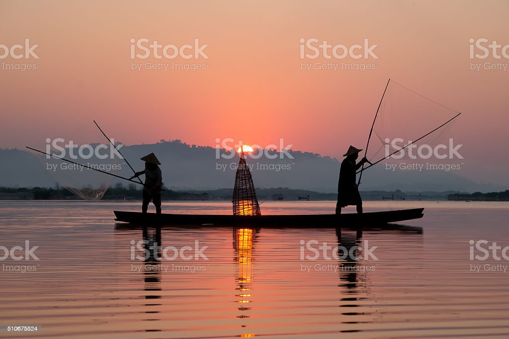 Fishing scoop stock photo