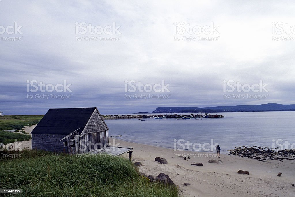 Fishing Shack in Nova Scotia stock photo