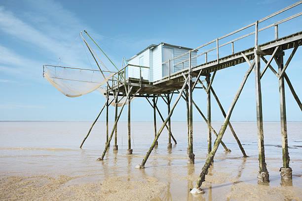 Pesca shack - foto de stock