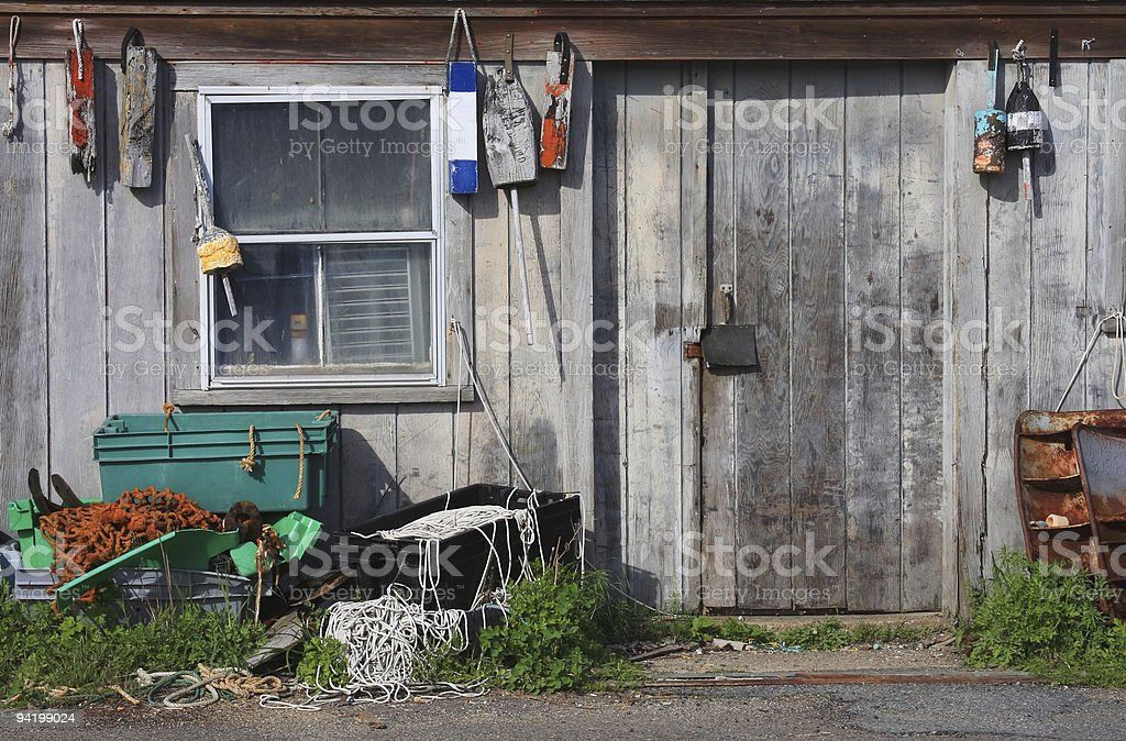 Fishing Shack stock photo
