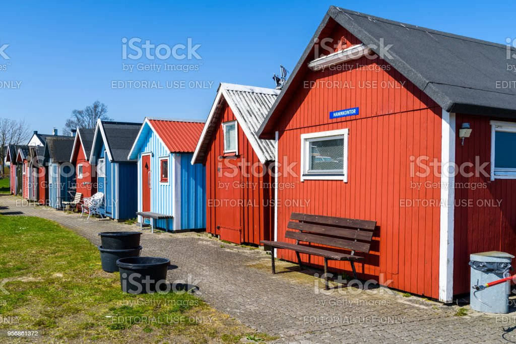 Fishing Sheds In The Local Harbor Stock Photo & More Pictures of
