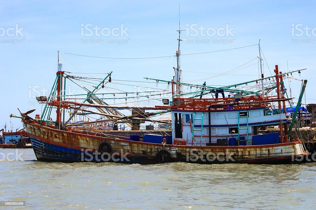 fishing ship on the  Sea royalty-free stock photo