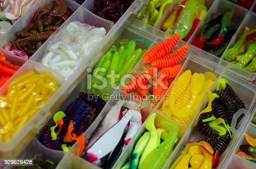 istock Fishing soft baits 929629428