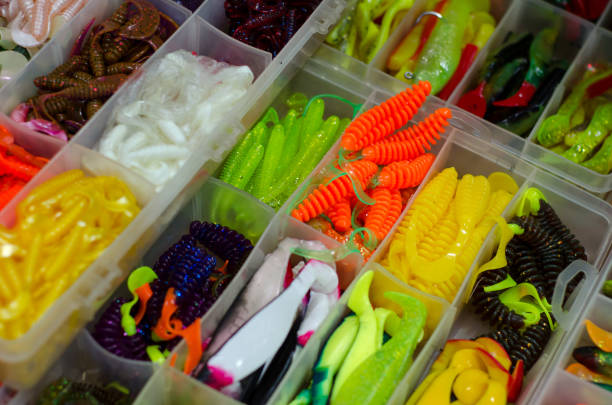 Fishing soft baits Fishing soft baits fishing bait stock pictures, royalty-free photos & images