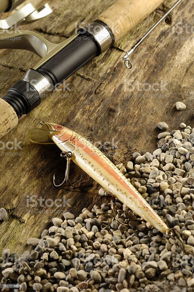 Fishing still life 2 royalty-free stock photo