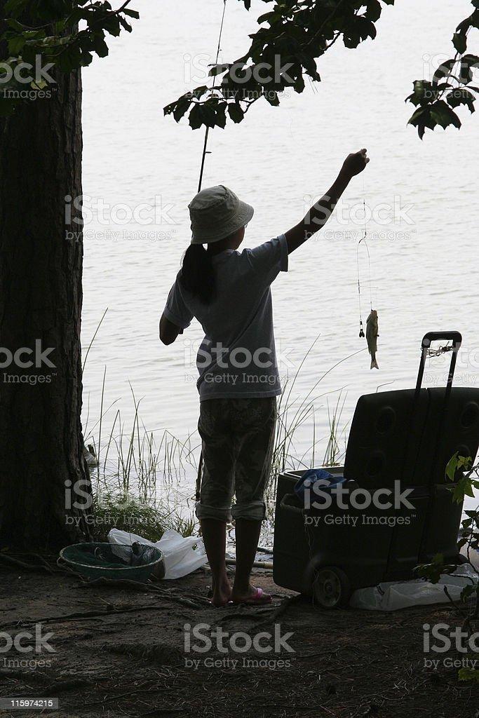 Fishing success royalty-free stock photo