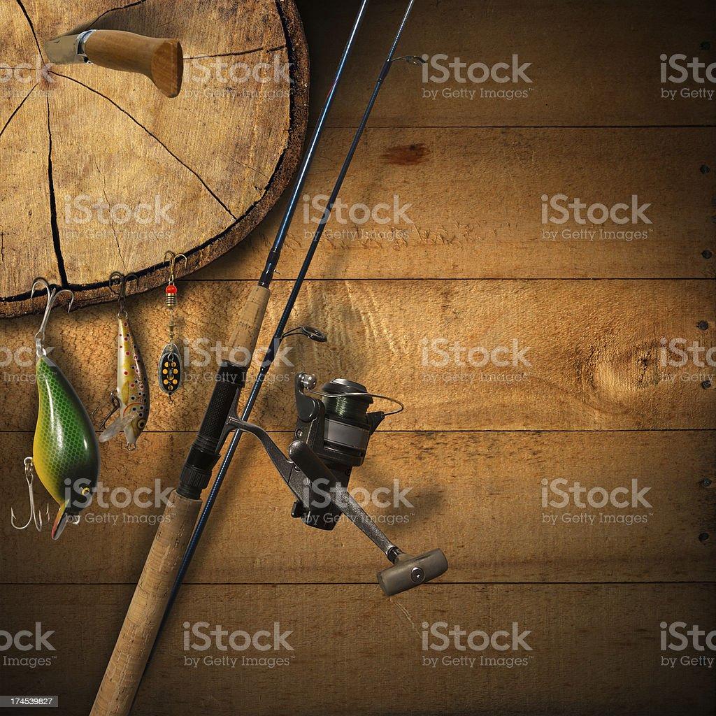 Fishing Tackle Background royalty-free stock photo