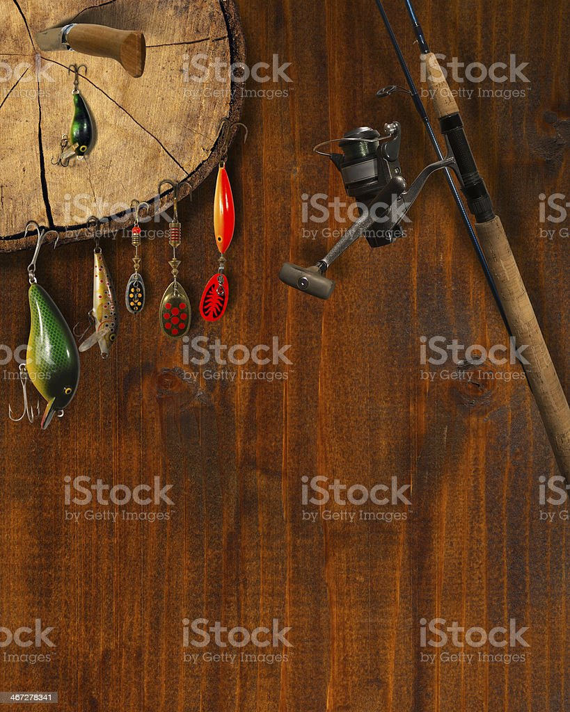 Fishing Tackle Background royalty-free stock photo