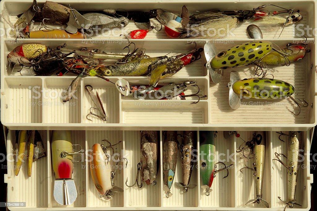 fishing tackle box royalty-free stock photo