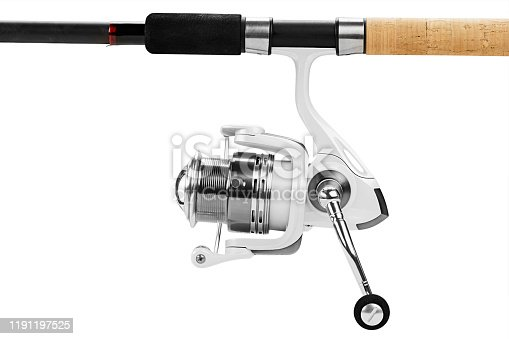 864720746 istock photo Fishing tackle isolated on white. 1191197525
