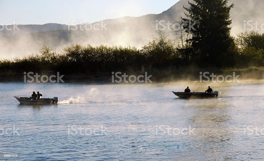 Pesca la Nehalem Oregon foto stock royalty-free