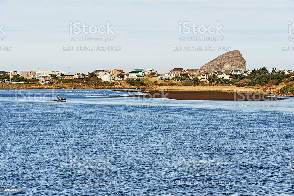 Fishing the Nestucca River stock photo