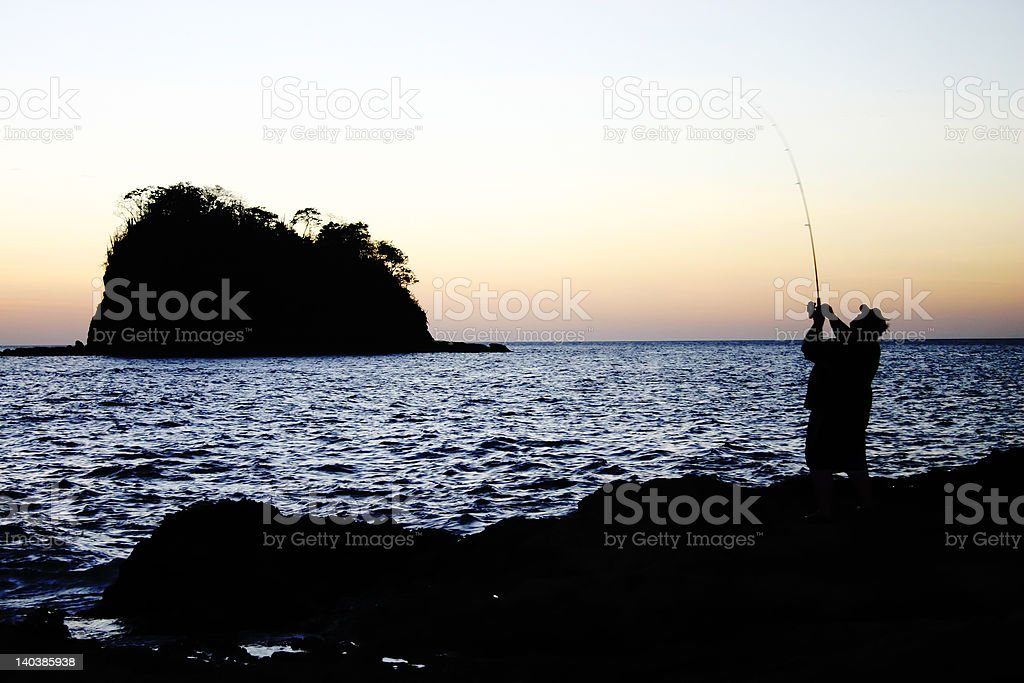 Fishing The Surf royalty-free stock photo
