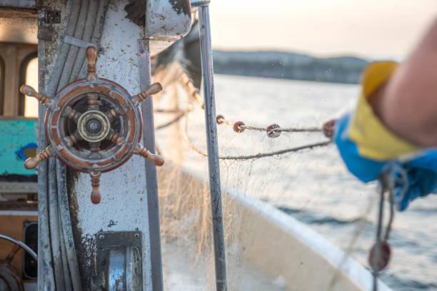 angeln zeit - segelhandschuhe stock-fotos und bilder