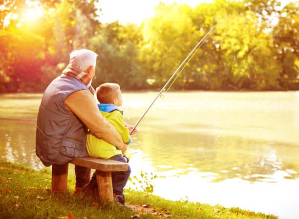 fishing together. - flod vatten brygga bildbanksfoton och bilder
