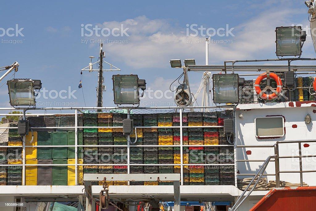 fishing trawler fragment royalty-free stock photo