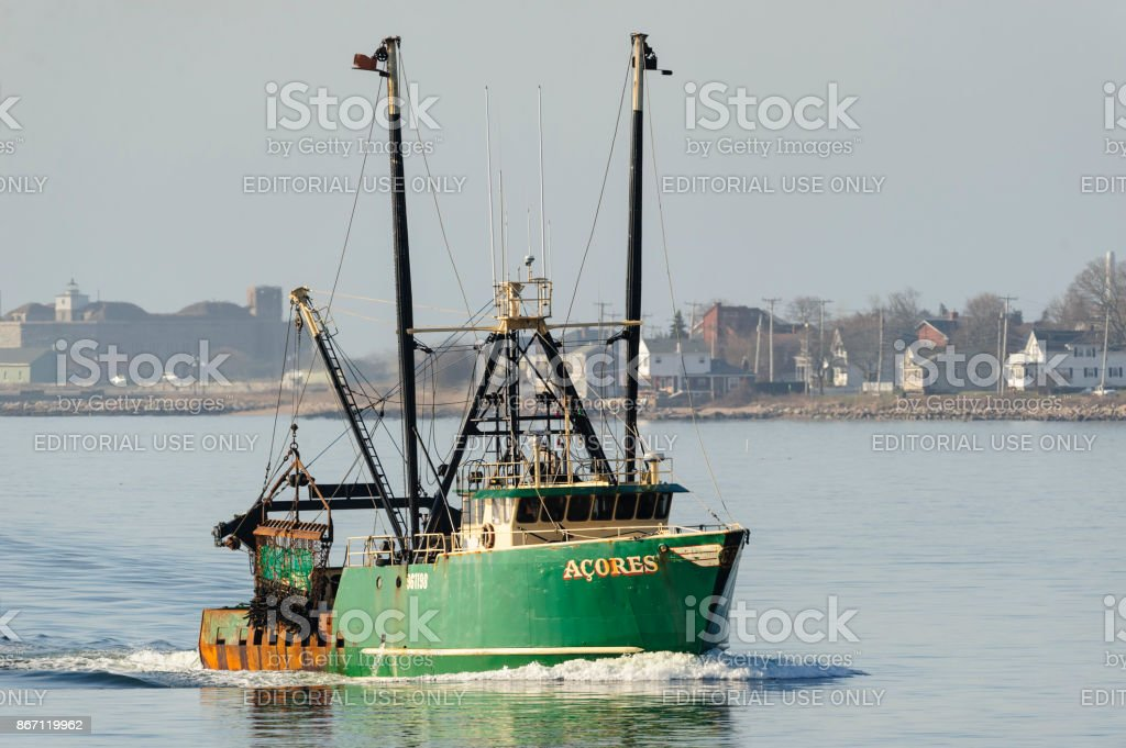 Fishing vessel Acores stock photo