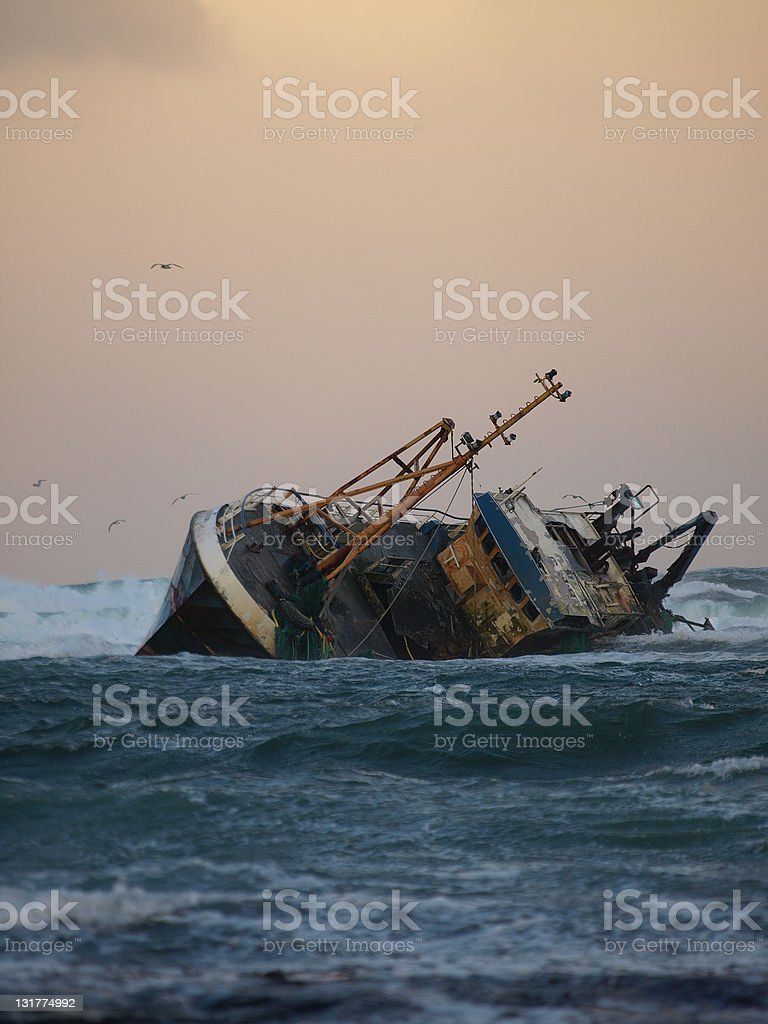 Fishing Vessel Aground royalty-free stock photo