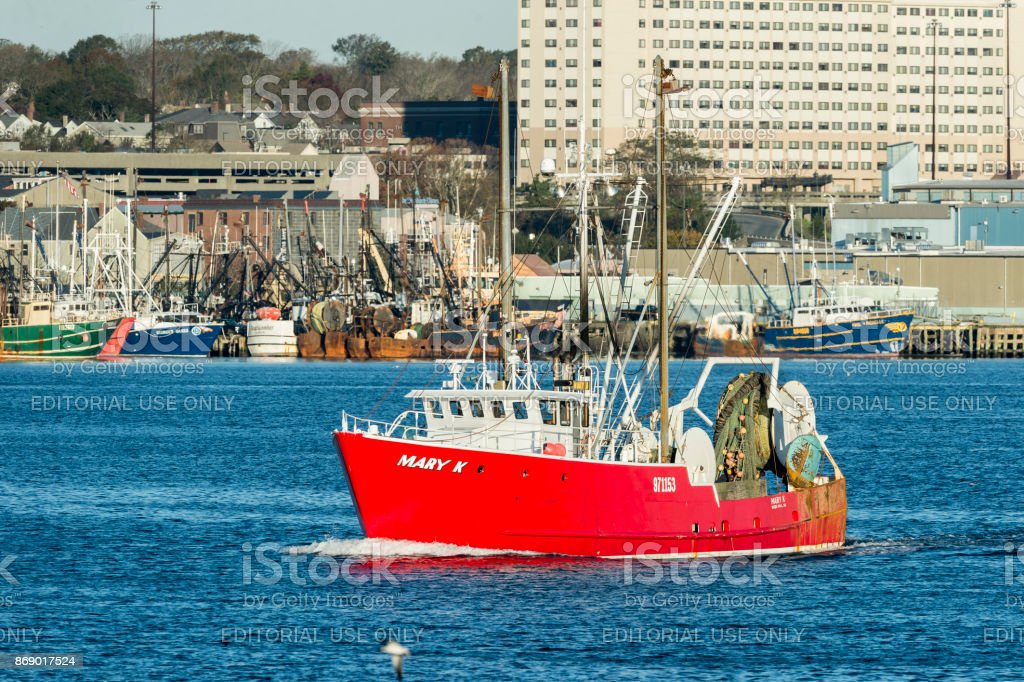 Fishing vessel Mary K stock photo