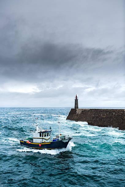Fishing Vessel under Storm - Photo