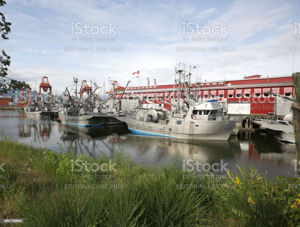 Fishing Vessels in Port of Vancouver, Canada - Royalty-free Built Structure Stock Photo