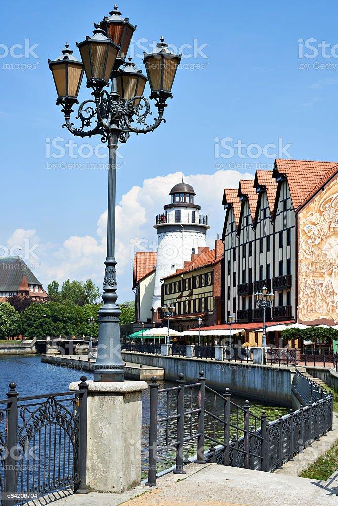 Fishing Village - ethnographic center. Kaliningrad, Russia stock photo