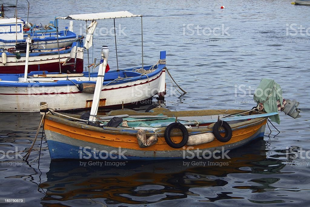 Fishing village harbour royalty-free stock photo
