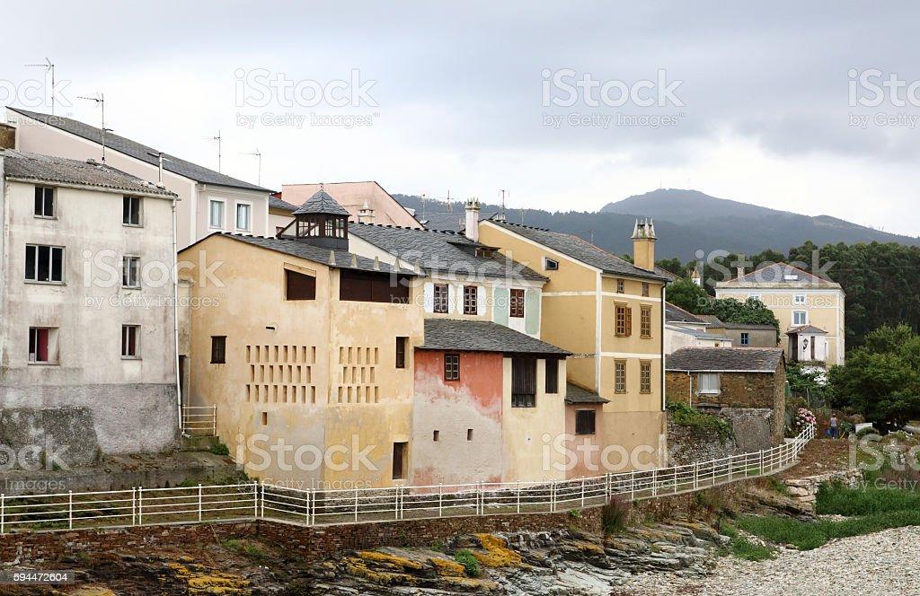 fishing village in Galicia stock photo