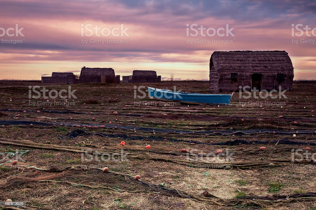 Fishing village in the south of France stock photo