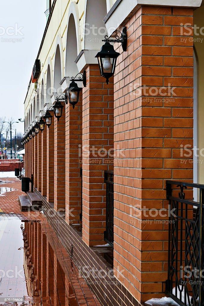 Fishing village is beautiful in any weather... Kaliningrad, Russ stock photo