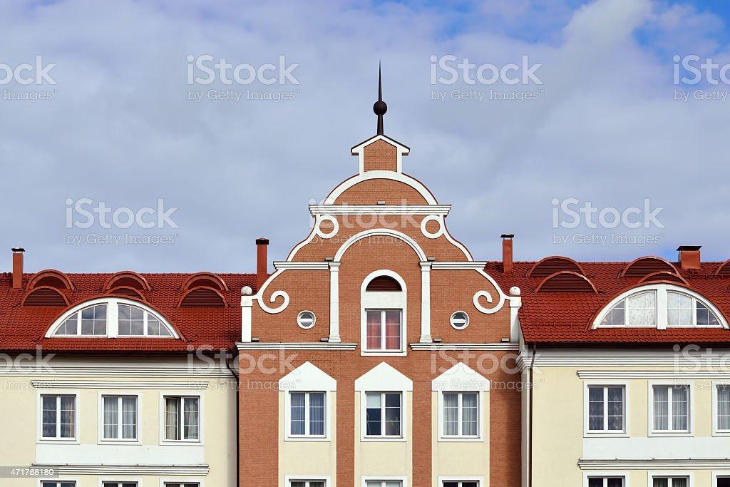 Fishing village. Kaliningrad (until 1946 Koenigsberg), Russia stock photo