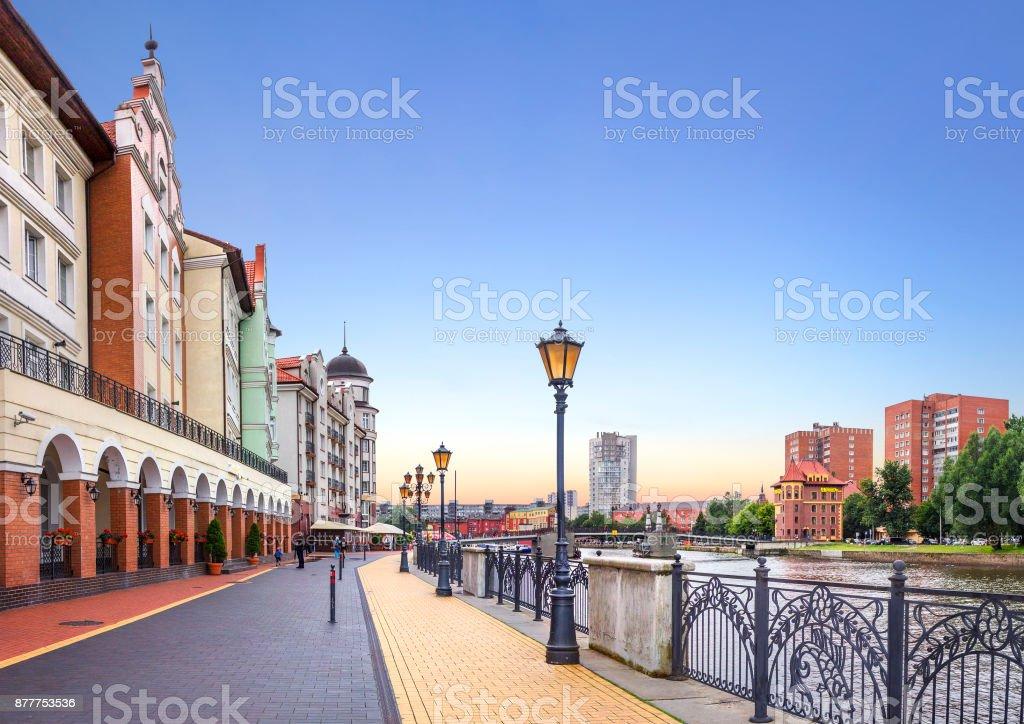 Fishing Village. Kaliningrad, Russia royalty-free stock photo