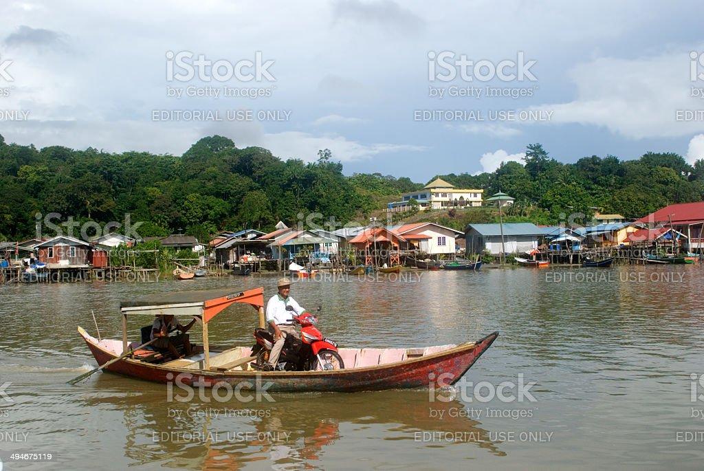 Fishing village, Kampung Bako, Sarawak, Borneo, Malaysia stock photo