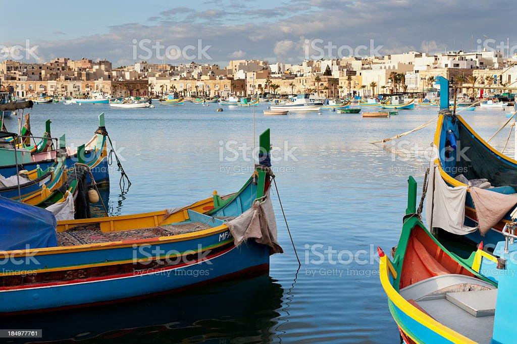 fishing village, Malta stock photo